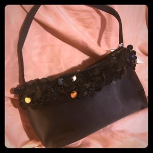 Adorable Satin Evening purse with beading Detail